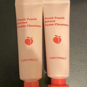 6/$25 2 Tony Moly Peach Punch Sweet Foam Cleansers